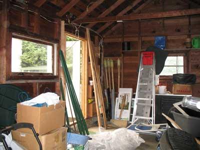 Studio - inside, beforerennovation
