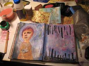 Journal page from a recent class with Judy Wise