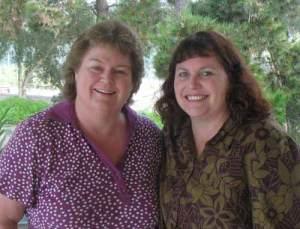 Laura and Linda enjoying a sisters weekend