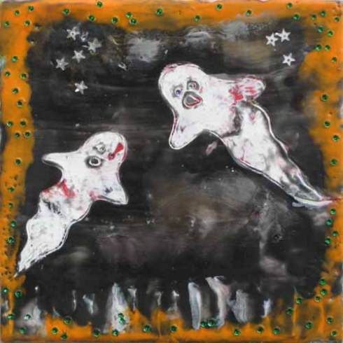 Thanks to one of my recent students, Kathy, for lending me her fun ghost painting!
