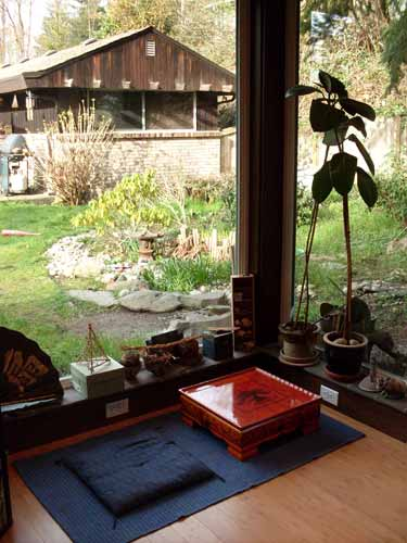 Kristin's meditation spot in her studio