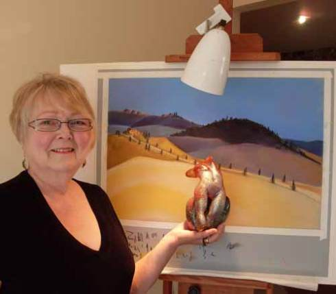 Megan is also an accomplished artist working in pastel and glass