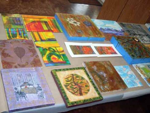 Beautiful work created by several sutdents in my class at JCC