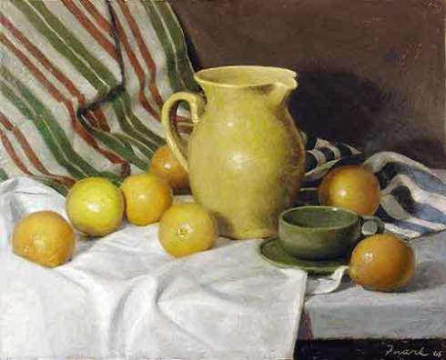 "Co-Chair Award, Kevin Frank, Oranges with Yellow Pitcher, 20"" x 26"""
