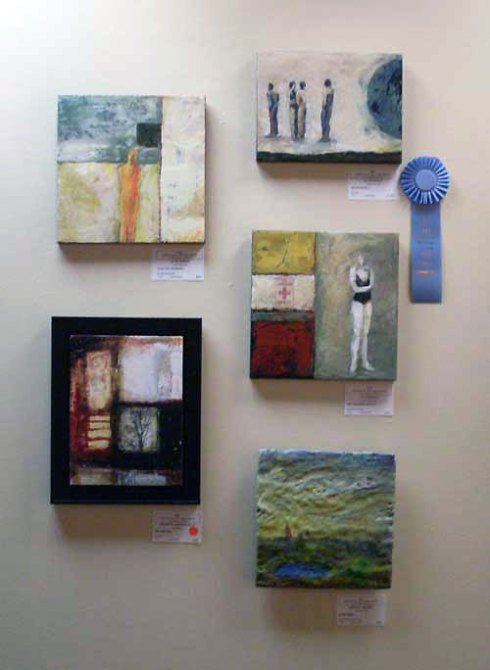 "Committee Award, Liz McDonald, Big Blue Ball, 12"" x 9"""