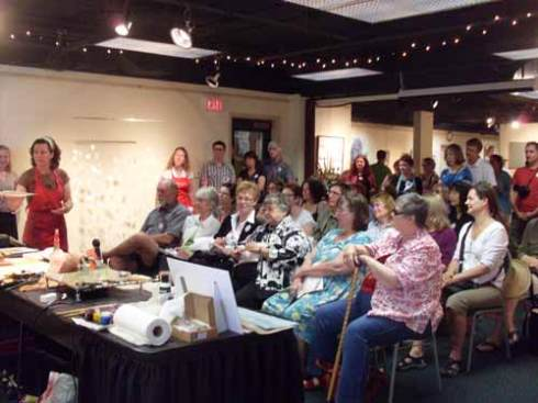 We had standing room only for every demo, where many patrons had never heard of encaustic before