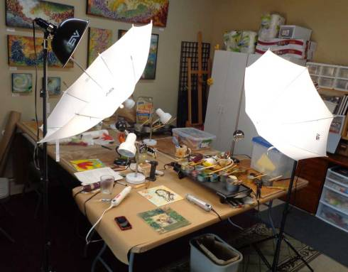 What it really looks like in my studio when shooting photographs or video.