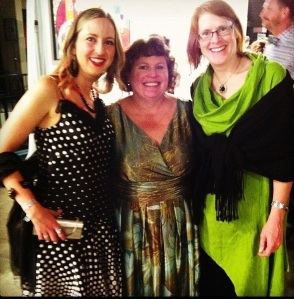 Chantel Greene, Linda Robertson and Pam Nichols at the 2014 CAP Art Gala
