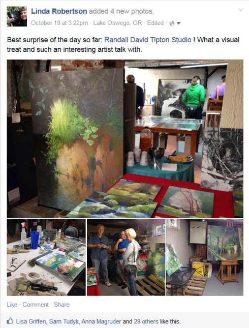 My Facebook posting about Randall's work